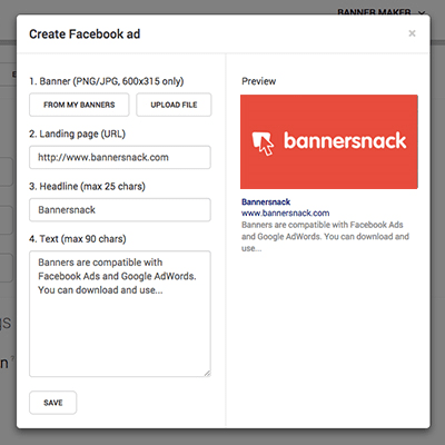 Facebook ads for everyone with Bannersnack